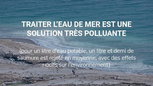 traitement eau de mer polluant - saumure