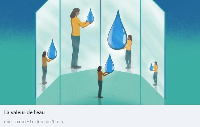 valeur eau - onu - ODD - journée mondiale de l'eau - 2021 - challenges